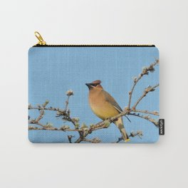 Cedar Waxwing Faces Sunset Carry-All Pouch