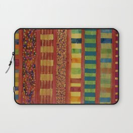 Glamorous Beach Cabins under Squared Sky Laptop Sleeve