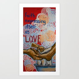 faith expressed Art Print