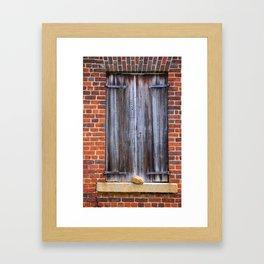 Wood Plank Shutters Framed Art Print