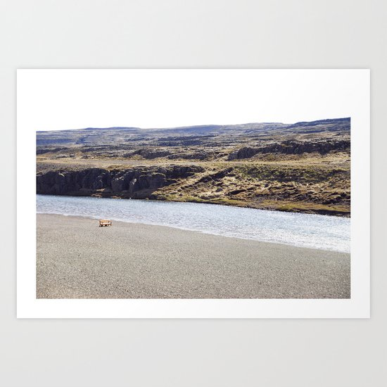In the middle of nowhere, Iceland Art Print