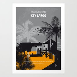 No998 My Key Largo minimal movie poster Art Print