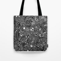trip Tote Bags featuring Trip by Hugo F G