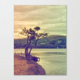 Autumn Lakeside Canvas Print