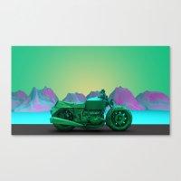motorbike Canvas Prints featuring motorbike by zKrajnc