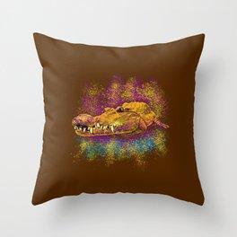 Chilling Crocodile Throw Pillow