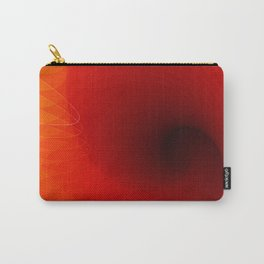 Orange clock Carry-All Pouch