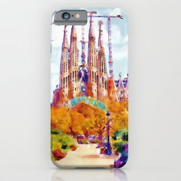 La Sagrada Familia - Park View iPhone Case