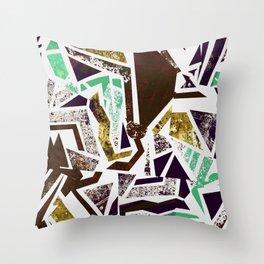 Wood Inlay Throw Pillow