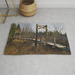 Little Mac wooden bridge Rug