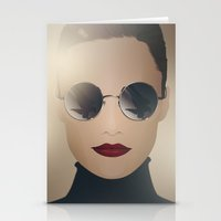 ferrari Stationery Cards featuring Ferrari Girl by Seventy Two Studio