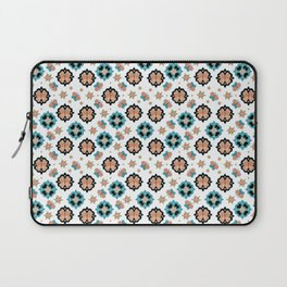 Butterfly And Flower Medallions - Pearl Color Laptop Sleeve