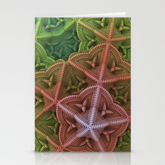 Fractal Starfish Stationery Cards