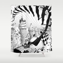 PLEASE, COME IN CONTACT OUR PLANET EARTH Shower Curtain