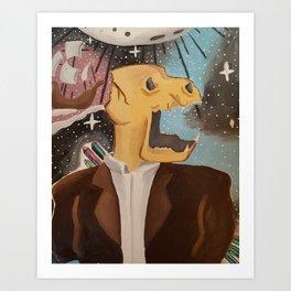 Scream (In Space) Art Print