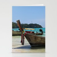 thailand Stationery Cards featuring Thailand Boat by Serena Jones Photography