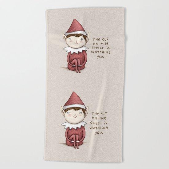 The Elf on The Shelf Beach Towel