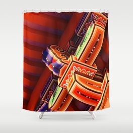 Structure of Kyoto Shower Curtain