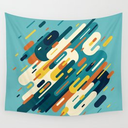 Retro Lines Wall Tapestry