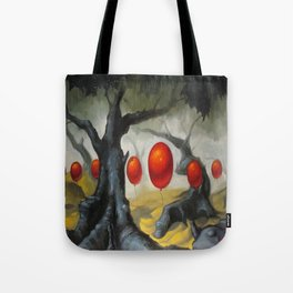 March of the Red Balloons Tote Bag