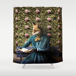 Fiona Fox reading in the garden Shower Curtain