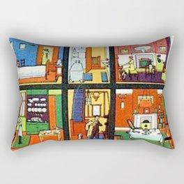 Vintage Doll House Rectangular Pillow