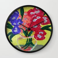 oakland Wall Clocks featuring Oakland Glad by Oakland.Style