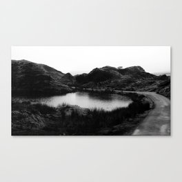 Fairy Glen, Isle of Skye, B/W Canvas Print