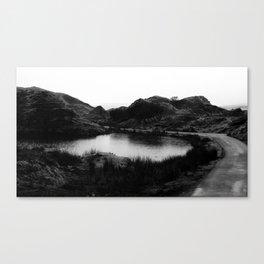 Fairy Glen, Isle of Skye, B/W Canvas Print
