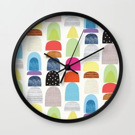 Semi Circles Geos Wall Clock