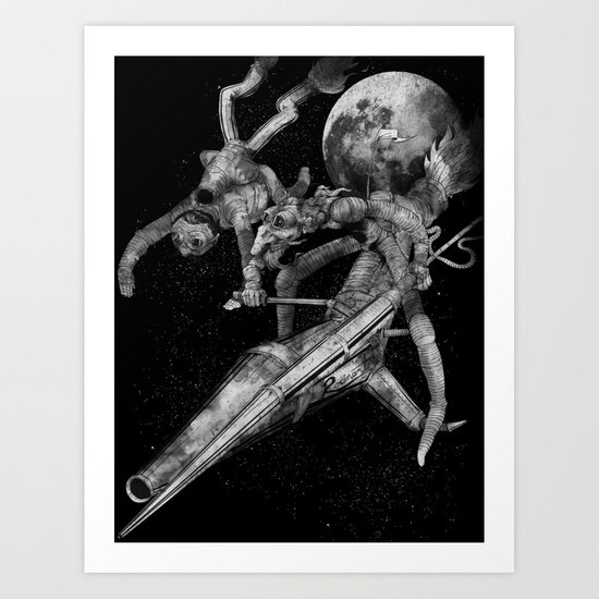 Don Quixote and Sancho. Art Print