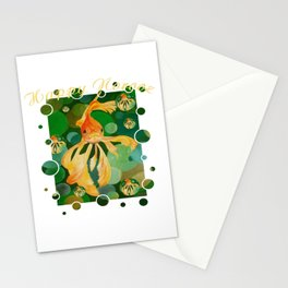 Happy Norooz Persian New Year Goldfish In Green Sea Stationery Cards