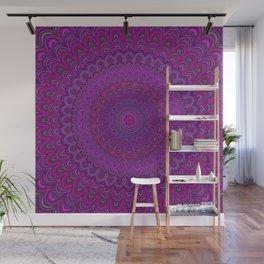 Purple flower mandala Wall Mural