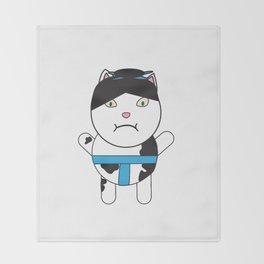 Sumo Kitty Throw Blanket