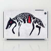red riding hood iPad Cases featuring L'il Red Riding Hood by Becca Thorne