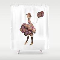 ballon Shower Curtains featuring Le Ballon // Birthday II by annabours