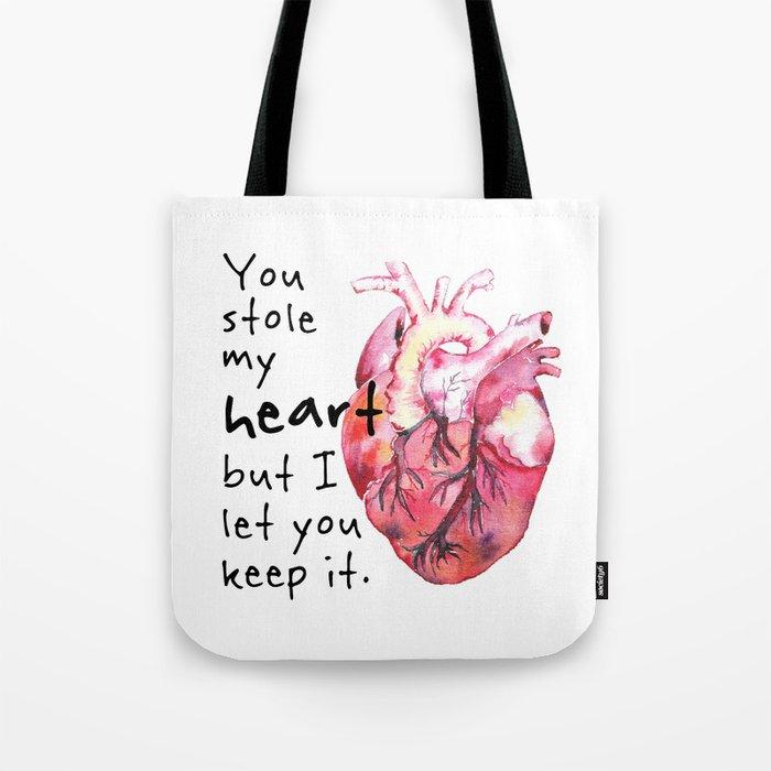 Stolen Heart Tote Bag