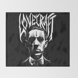 lovecraft metal band creator of cthulhu Throw Blanket