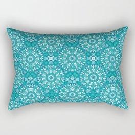 Green circle pattern 3 Rectangular Pillow