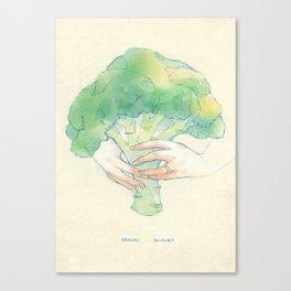 Broccoli bouquet Canvas Print