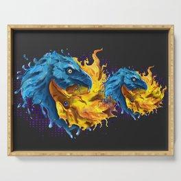 Eagles Elemental Yin Yang Serving Tray
