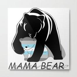 Mama Bear Demiboy Metal Print