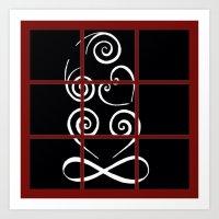 tiki Art Prints featuring Tiki by Alison McLean