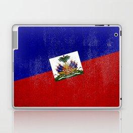 Haitian Distressed Halftone Denim Flag Laptop & iPad Skin