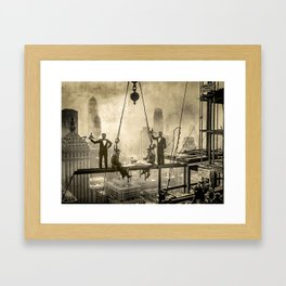 Sir, Where are your restrooms? Framed Art Print