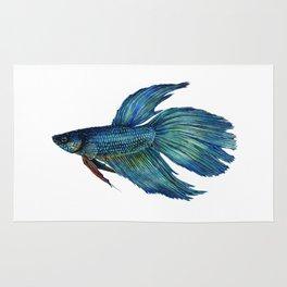 Mortimer the Betta Fish Rug