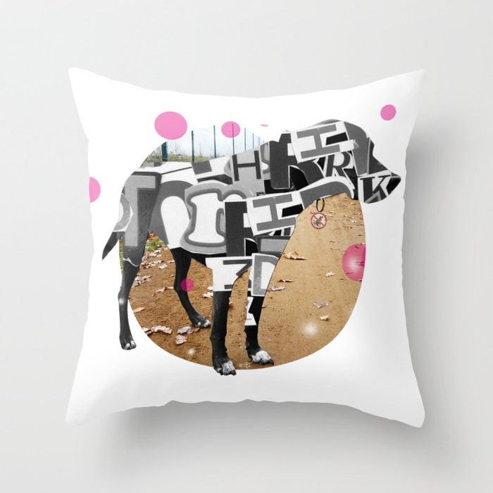 Bunter Hund Throw Pillow