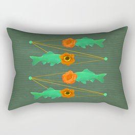fishes and flowers color option Rectangular Pillow