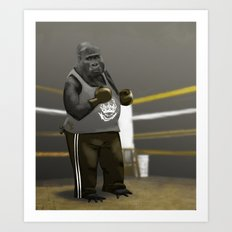 Old School Champion 2 Art Print