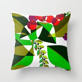 Grapes, Pomegranates, Blue Berries and Olives Throw Pillow